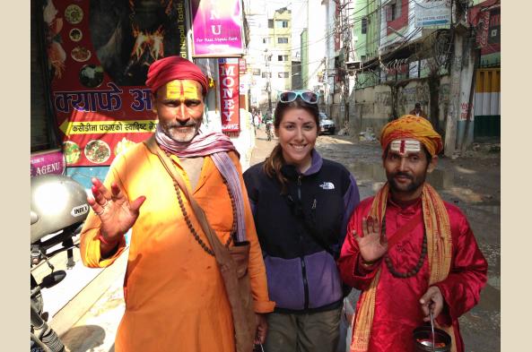 Meet holy men in Kathmandu