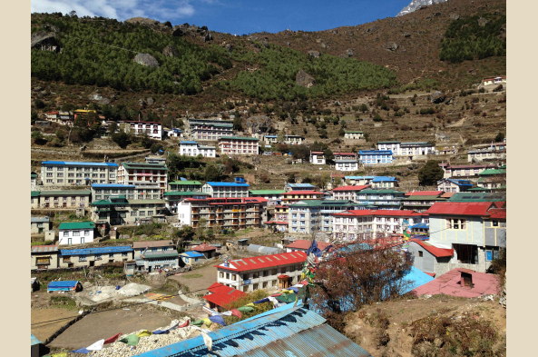 Namche is the home of many sherpas