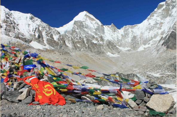 Reaching base camp is an unforgettable moment