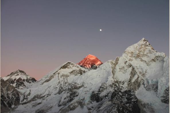Everest at dusk