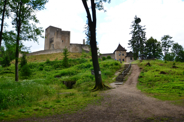Admire the ruins of Landstein Castle