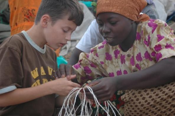Enjoy a demonstration of village crafts