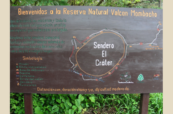 The map of Crater Trail.