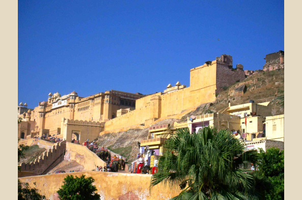 Take an elephant ride up to the Amber Fort