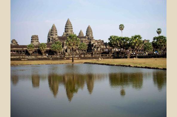 Angkor Wat is just outside of Siem Reap
