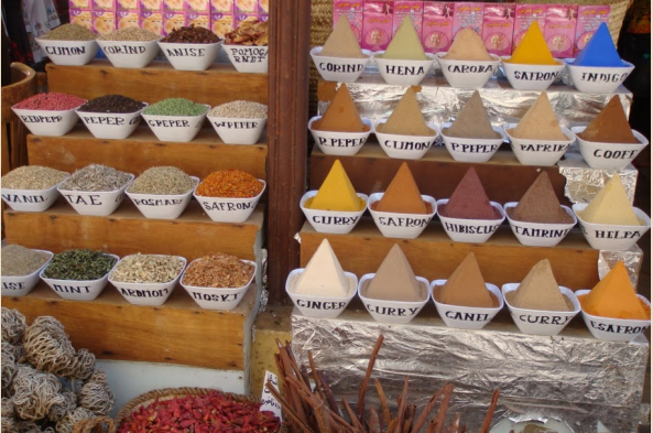 Spices at Aswan's colorful souq