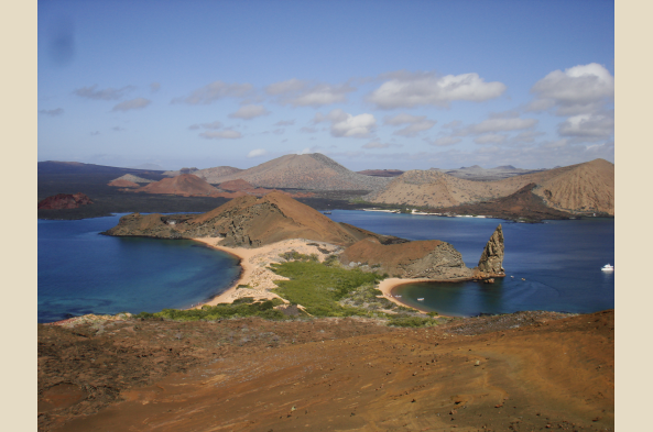 Trek on the surreal moonscape of young Bartolome Island