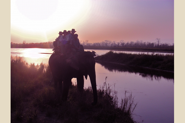 Enjoy a marvel Chitwan sunset