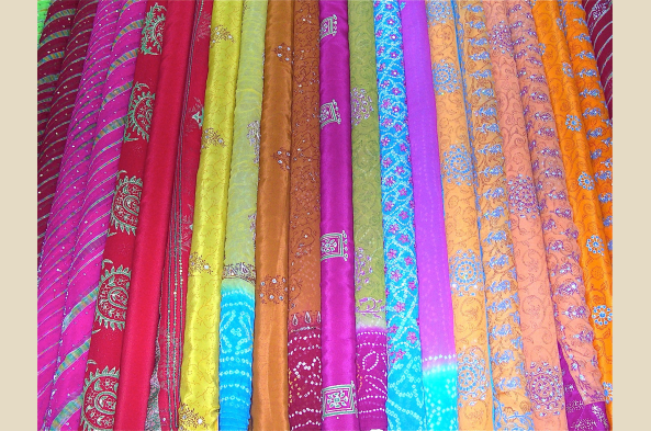 Indulge yourself with a purchase of Tanjore's amazing silk
