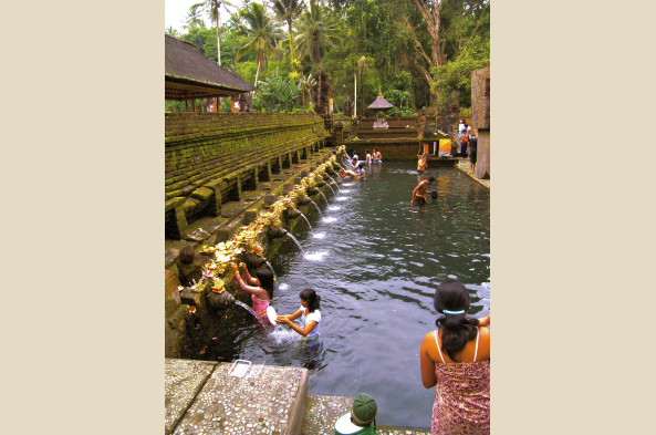 Sacred bathing area at a temple near Ubud