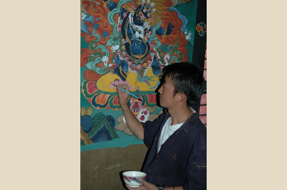 Visit a Buddhist artists' school