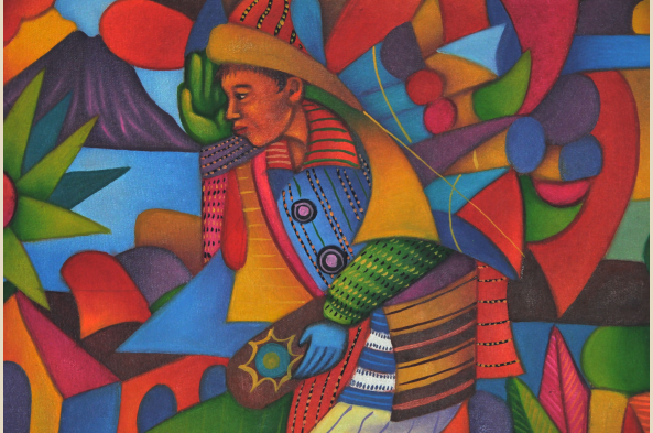 Local artists in the villages on Lake Atitlan execute and teach a vibrant painting style.