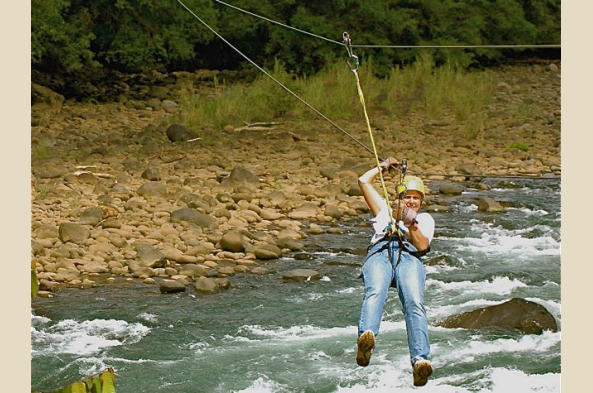 Ziplining is just one possible activity
