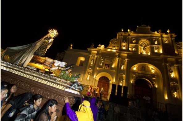 The evening processions begin on Wednesday