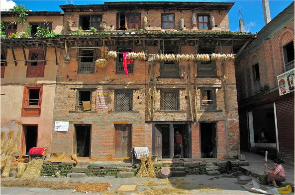 orn drying on the street is one of many small and delightful surprises that await in Dhulikhel