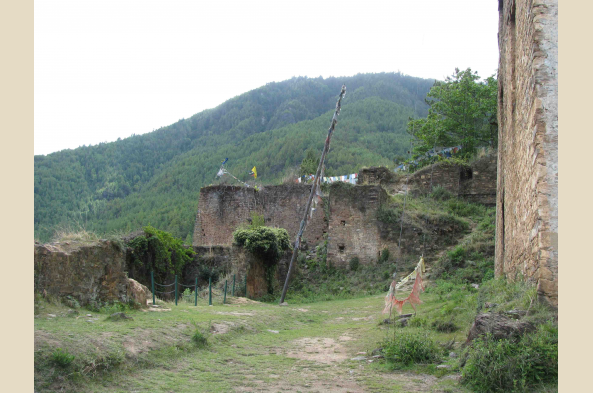 See the Drugyel Dzong ruins