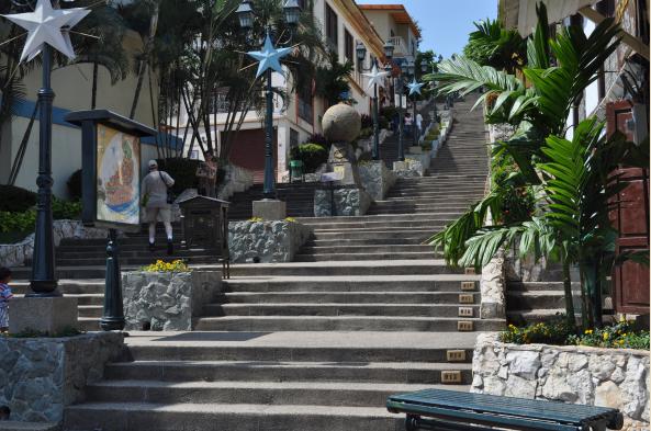 Wander the enchanting stairstep neighborhood of Las Penas