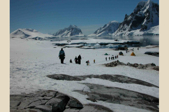 Explore the Antarctic Peninsula by foot if we're lucky.