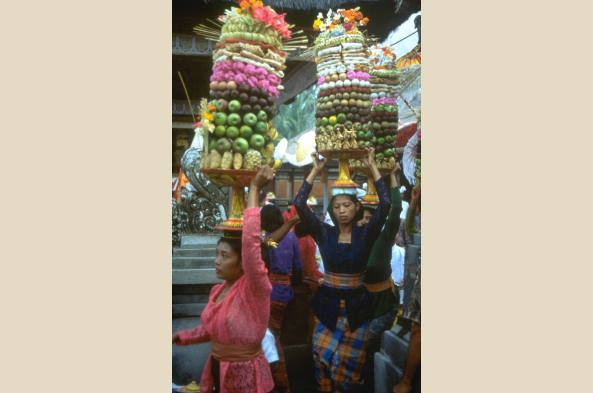 Balinese women going to festival