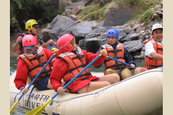 Rafting on the Vltava River