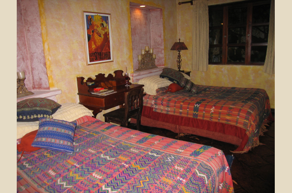 Rooms at Panza Verde are comfortable and traditionally adorned.