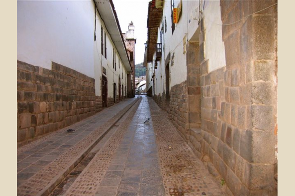 Explore the narrow cobblestone streets of Cusco