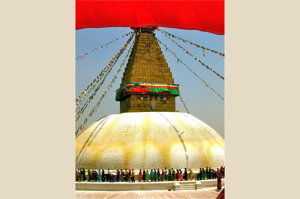 Visit Boudhanath, one of Nepal's most famous icons