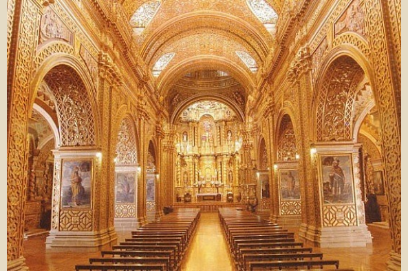 Inside the ornate LaCompania