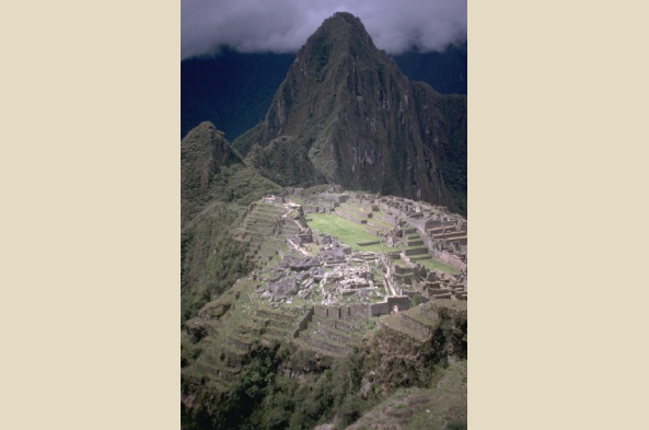 Another high view of Machu Picchu