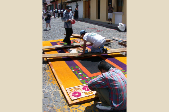 Carpets made of flowers, grains, and even vegetables will be arranged for the processions.