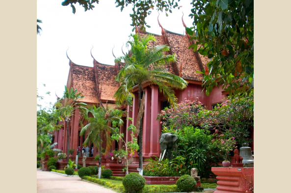 Arrive in Phnom Penh, Cambodia's bustling capital