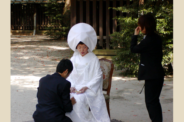 You may be lucky enough to witness a traditional Japanese wedding