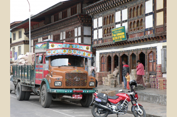 Explore the small town of Paro
