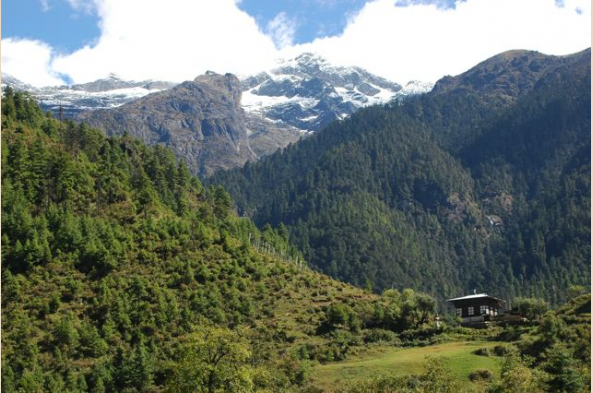 Enjoy the beautiful mountain views on your drive from Punakha to Paro