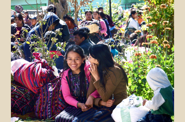 Visit the colorful market in the small town of Solola