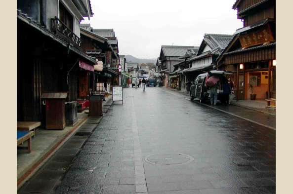 Streets of a Japanese Old Town