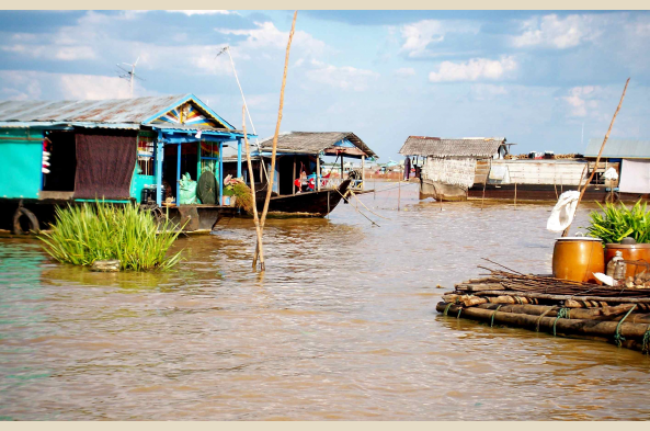 Investigate village life on Tonle Sap Lake