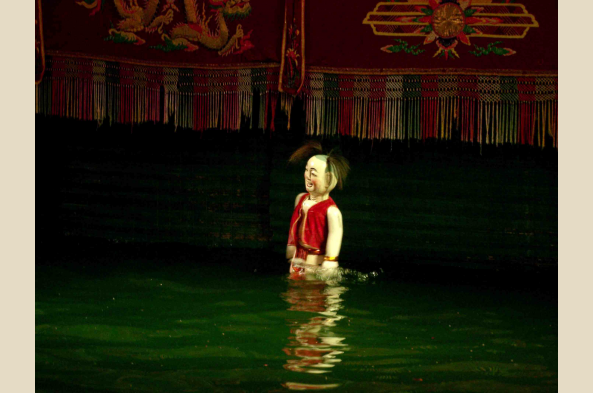 Experience a traditional water puppet show