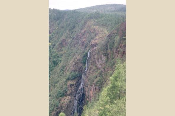 Marvel at mountainside waterfalls