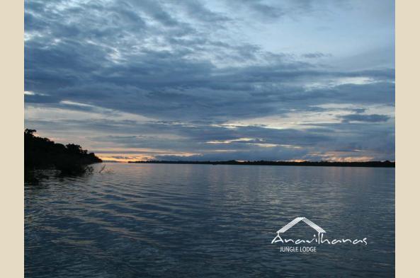Enjoy sunrise or sunset on the river
