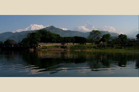 Stay on the shores of Pokhara's lovely lake (photo by Slleong)