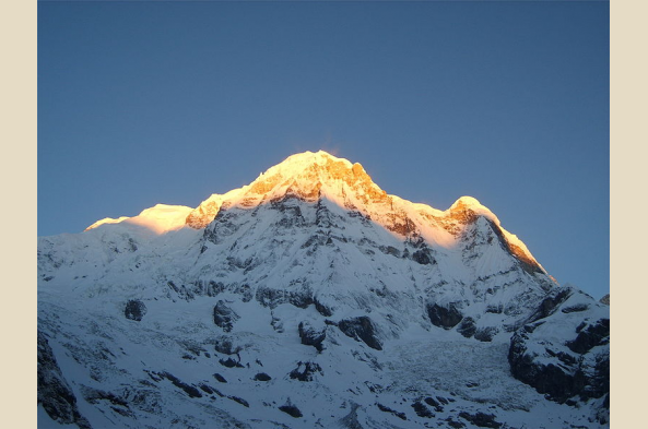 Annapurna South is visible in the distance (photo by Arite)