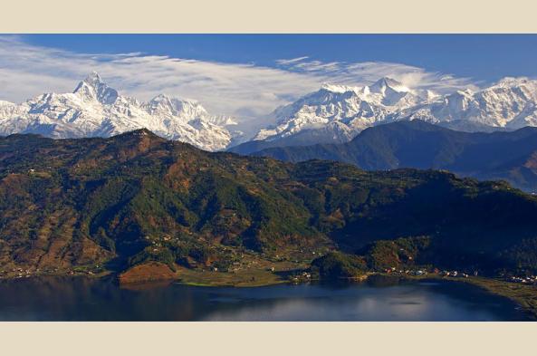Annapurna range from Pokhara (by Jean Marie Hullot)
