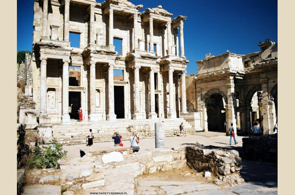 At Ephesus, marvel at the great Library of Celsus