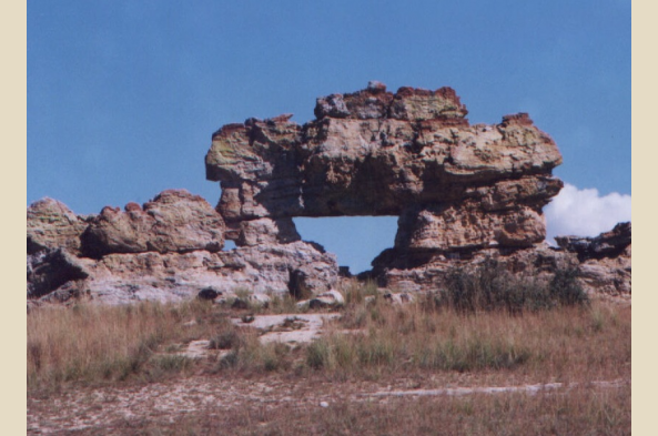 Isalo is know for its unique rock formations.