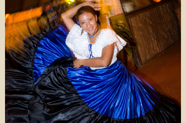At the closing fiesta, local dancers show off folk traditions