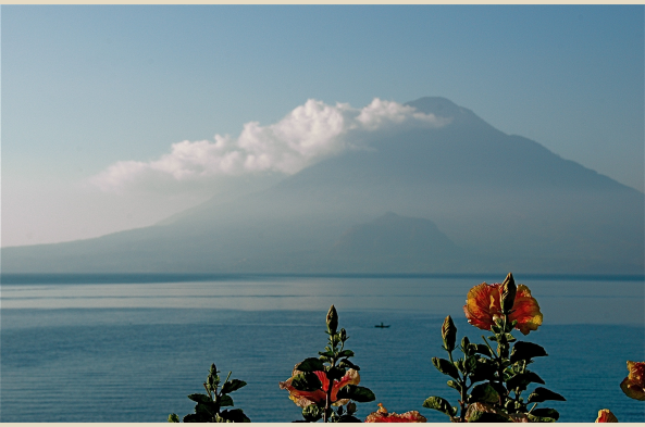 Lake Atitlan surrounded by volcanoes has been called the most beautiful lake in the Americas.