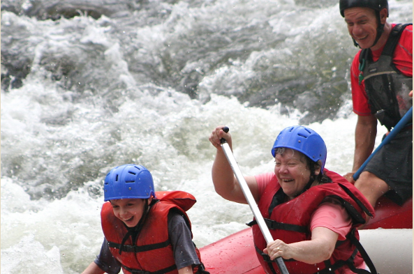Thrill-seekers can choose to go whitewater rafting