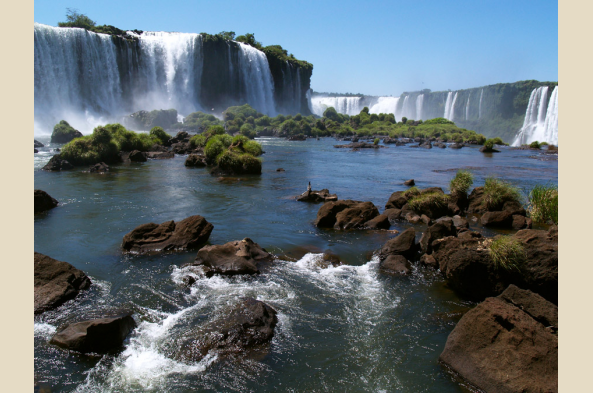 Another angle on Iguazu Falls