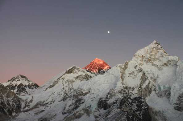 Everest at dusk